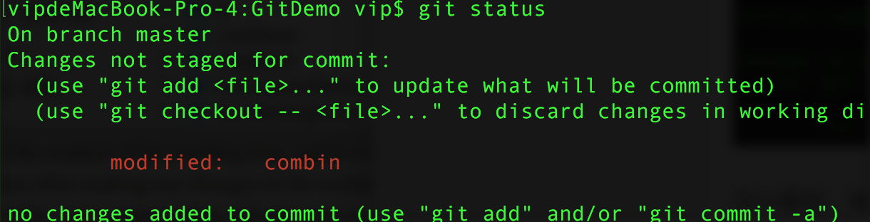 Git命令集之五——更新内容状态命令