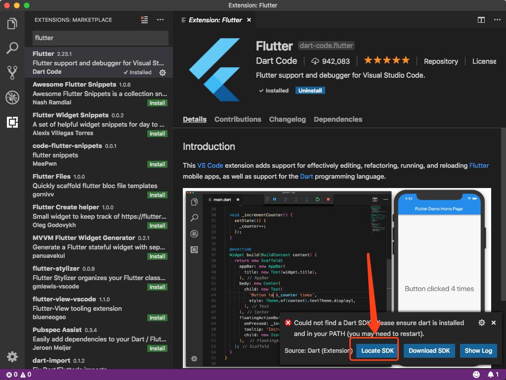 Flutter配置for Mac -- VSCode