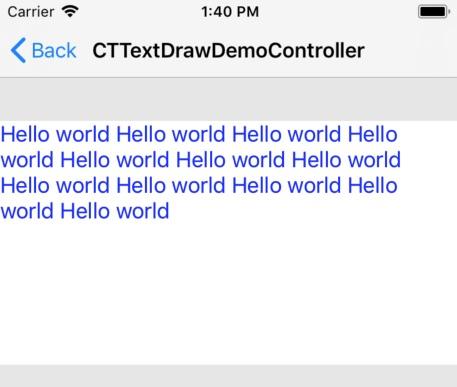 CoreText 入门(一)-文本绘制