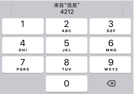 iOS 键盘显示验证码
