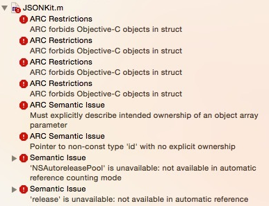 ARC forbids Objective-C objects in struct