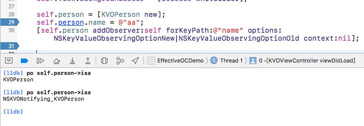 iOS KVO 中 runtime 探究