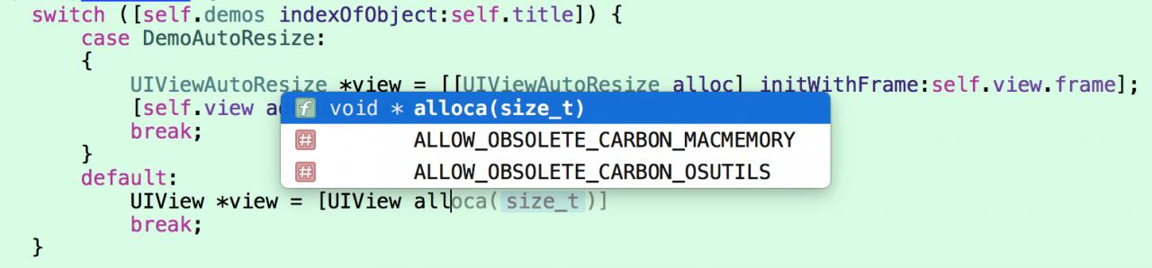 iOS开发Objective-C 的switch语句中不能初始化对象