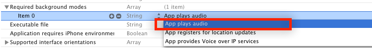 iOS后台播放音乐