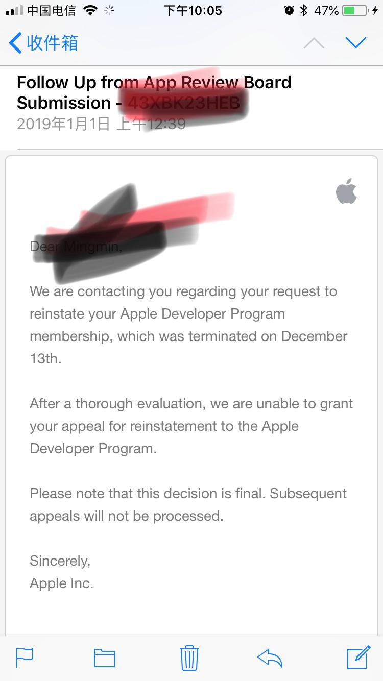 iOS审核被拒《Other – Other》问题解决跟踪 解决方法 3.2f 4. 3 Design: Spam 3.4
