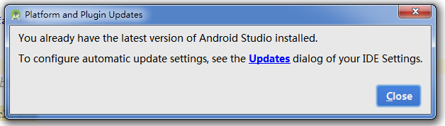AndroidStudio更新时不小心点了ignore This Update,解决办法