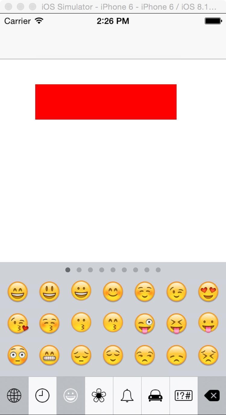IOS开发中输入表情符号的实现方法